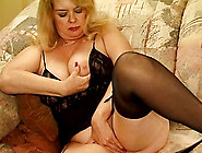 Chubby Mature Pornstar Fingering Her Pussy Before Getting Drille