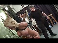 Busty Blonde Gets Whipped In Sexy Strappado
