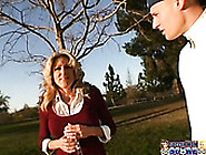 Old Slutty Bitch Lexi Carrington Picked Up By The Student Boy.