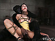 Leggy Chick With Plug In Her Mouth Gets Punished By Brutal Guy I