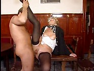 Granny In Stockings Wants His Hard Cock