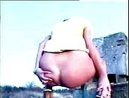 Beautiful Blonde Girl Pooping
