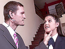 A Naughty Coed In Uniform Gets Spanked Then Fucked Hard