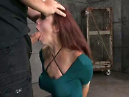 Tied Up Beautiful Submissive Redhead Has To Suck Hard Stiff Dick