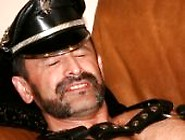 Muscle Daddy Duke Rivers Can't Get Enough Leather.  The Smell Of