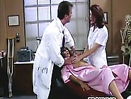 Ebony Patient In A 3Some At A Doctors Office