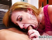 Redhead Step Mother Sara Jay In Stockings Gets Creampie After Sh