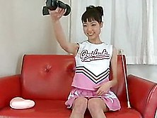 Cute And Nasty Babe Kurara In Her Sexy Cheerleader Outfit Mastur