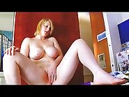 Chubby Blonde Teen Masturbating Soaked Wet Pink Pussy