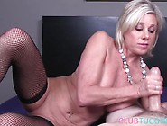Mature Slut Jerking Big Stiff Cock In Pov