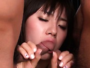 Pretty Asian Achives Multiple Orgasms During Wild Three-Some