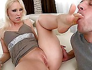 Jasmin Gives A Footjob And Gets Her Pink Slit Pounded Remarcably