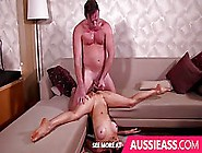 After A Shower,  A Handsome Lover Is Fucking A Skinny Teen,  On Hi