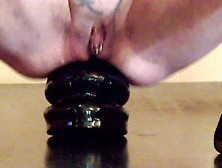 Annabelle Dangel Large Butt Plug Diameter 10Cm In Ass