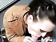 Short Haired Amateur Brunette Gets Busy With Sucking Tasty Lolli
