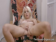 Hot Blonde With Big Pussy Lips Masturbates