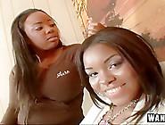 Pair Of Black Lesbians Going Wild