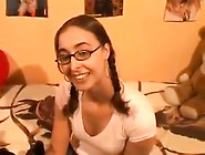 Pigtails And Glasses Teens Fuck