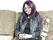 Impossibly Ugly Ebony Dumpster Fingerfucks Her Nasty Black Pussy