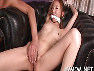 Pretty Asian Statisfies Herself With Virator On Cunt A