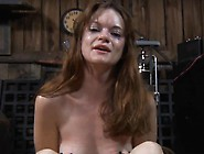 Clamped Beauty Gets Harrowing Cum-Hole Pleauring