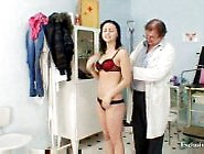 Free Porno Brunette Pavlina Vagina Exam By Old Doctor At Clinic