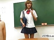 Japanese Schoolgirl Strips Nude In Class