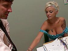 Big Boobs Blonde In A Wicked Slutty Dress Fucks In Class