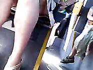 The Sexy Legs Of A Hot Milf Businesslady On The Bus