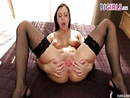 Pjgirls Sexy 18 Yo Morgan Strips And Spreads Her Teen Pussy Wide