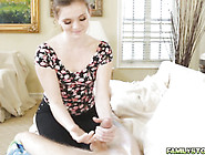 Stacey Whipped Out His Stepbros Big Hard Cock And Suck