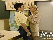 Sexy Blonde Teacher Seducing Her Student In Class