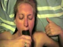 Milf Slut Sucking A Massive Black Cock In Pov