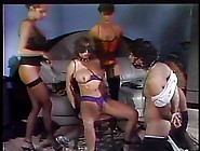 Group Of Five Lesbian Sluts In The Living Room