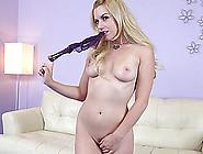 Sweet Solo Blonde Pornstar Masturbates With Two Toys