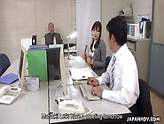 Sultry Japanese Secretary Blows Cock In Office Pov