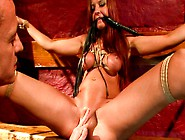 Torn Slut Asley Gets Her Pussy Pumped While Crucified In Bdsm Po