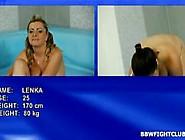 Bbws Lenka And Leny Wrestling In The Bbw Fight Club