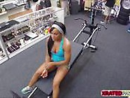 Muscled Chick Babe Gets Pawned Inside Her Pussy In The Pawn Shop
