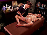 Alluring Asian Lesbian Enjoys An Oily Massage With A Happy Endin