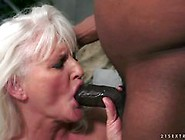 Mature White Haired Woman Getting Rammed By A Black Dick
