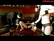 Asian Slave Getting Her Pussy Stimulated With Vibrator Whipped B