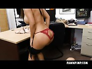 Fake Boobie Asian Brittany Rain Fucked In Pawn Shop Office