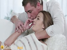 Orgasms Young Girl Enjoys Foreplay Before Passionate Romantic Se
