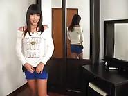 Thai 2459 Skinny Shemale In Little Dress