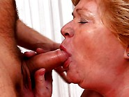 Old Woman Goes Wild For Young Dude's Cock And Gets Creamed