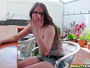 Cat Morris A Nasty Pussy Inside Glasses Has Sex Inside Point Of