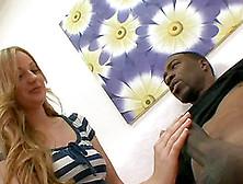 Blazing Teen Controls A Big Black Cock In Savory Interracial Act