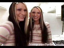 Simpson Twins Wait In The Kitchen