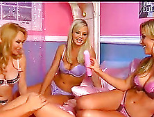 Four Ladies With Beautiful Big Tits Fucking In A Group